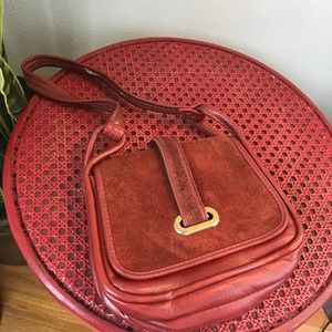 Vintage Oxblood Leather Shoulder Bag